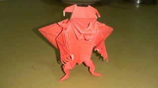 折り紙 悪魔 赤
